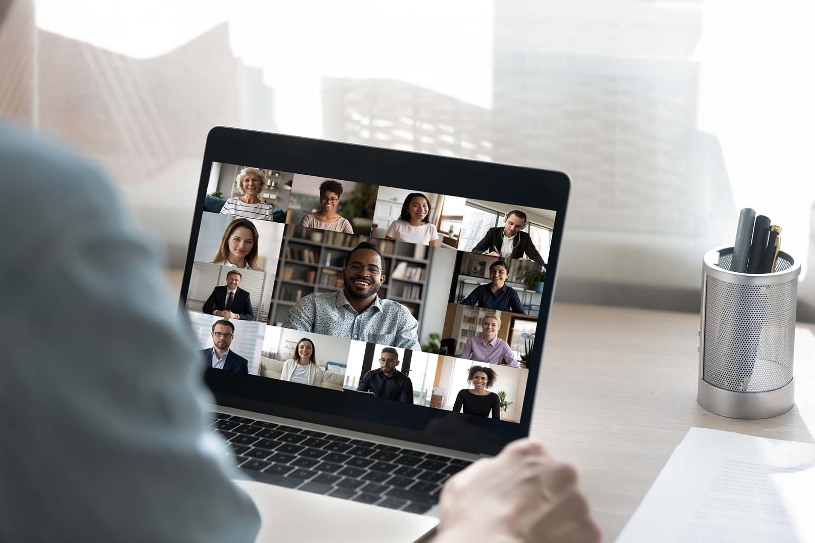 Online conference with multiple people